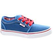 Chukka Low Kids (Oxford) Sky Blue/Red Shoe UDV8QE
