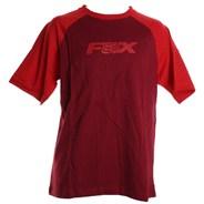 H S/S Ringer T-Shirt - Dark Red