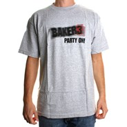 Baker 3 Party On S/S T-Shirt - Grey