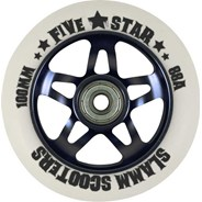 5 Star Alloy Core Scooter Wheel and Bearings - Black