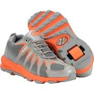 Sonar Orange/Grey/Silver Heely Shoe