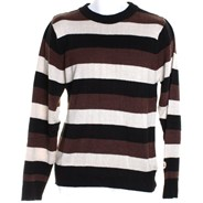 Follow Your Path Hemp Sweater - Brown Stripes