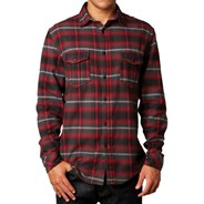 Boomer L/S Woven Flannel Shirt - Red