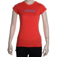 Nixon Capped Girls S/S Tee - Lava Red