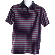 Fair Play S/S Polo Shirt - Navy Stripe