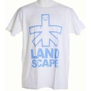 Outline Logo S/S T-Shirt - White/Sky Blue
