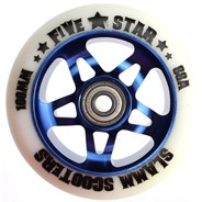 5 Star Alloy Core Scooter Wheel and Bearings - Blue