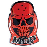 MGP Headtube  Skull Logo Badge - Red