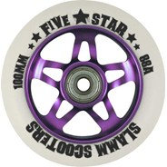 5 Star Alloy Core Scooter Wheel and Bearings - Purple