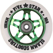 5 Star Alloy Core Scooter Wheel and Bearings - Green