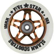 5 Star Alloy Core Scooter Wheel and Bearings - Orange