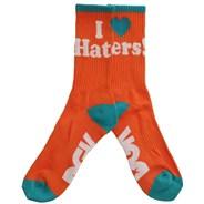 Haters Crew Socks - Orange/Mint/White