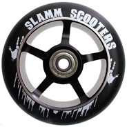 100mm Essential Spoke Metal Core Scooter Wheel and Bearings - Black