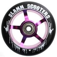 100mm Essential Spoke Metal Core Scooter Wheel and Bearings - Purple