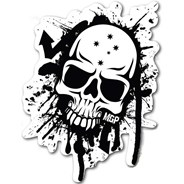 MGP Black & White Skull Sticker