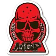 Red MGP Skull Sticker