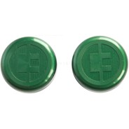 81 Customs Bar End/Overcaps - Green