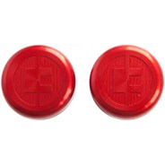 81 Customs Bar End/Overcaps - Red