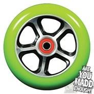 DDAM CFA 110mm Scooter Wheel Including Bearings - Black/Green