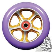 DDAM CFA 110mm Scooter Wheel Including Bearings - Gold/Purple