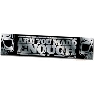 MGP Banner - Are you Madd Enough - Silver - 130cm x 30cm