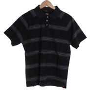Chronik Youth S/S Knit Polo Shirt - Black