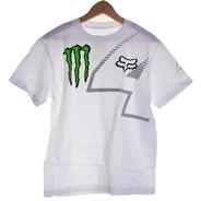 Monster Ricky Carmichael RC4 Youths S/S T-Shirt - White