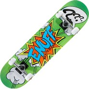 Pow II Green Mini 7.25inch Complete Skateboard