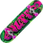 Graffiti II Pink 7.25inch Mini Complete Skateboard