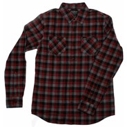 Robertson L/S Flannel Shirt - Burgundy
