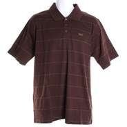 Motted S/S Polo Shirt - Brown