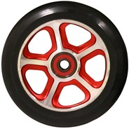 CF Filth 110mm Scooter Wheels Including Bearings - Red/Black