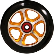 CF Filth 110mm Scooter Wheels Including Bearings - Gold/Black