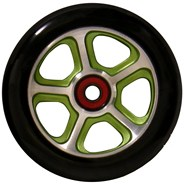 CF Filth 110mm Scooter Wheels Including Bearings - Green/Black