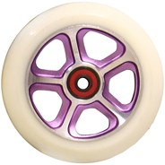 CF Filth 110mm Scooter Wheels Including Bearings - Purple/White