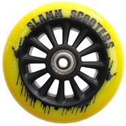 Nylon Core 110mm Scooter Wheel and Bearings - Yellow
