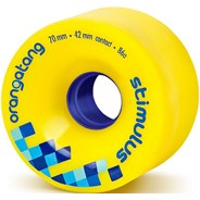 Stimulus Freeride Longboard Wheels - Yellow
