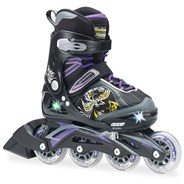 Bladerunner Phaser G Flash Girls Recreational Inline Skate - Black/Purple