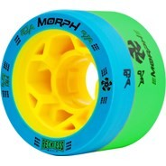 Morph 59mm 93A/97A Blue/Green Roller Derby Skate Wheels