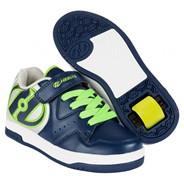 Hyper Navy/Silver/Green Heely Shoe