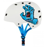 Santa Cruz Screaming Hand Matt White Skate/BMX Helmet