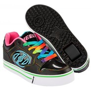 Motion Plus Black/Hot Pink/Rainbow Heely Shoe