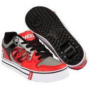 Motion Plus Red/Black/Grey/Skulls Heely Shoe