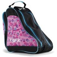 Designer Ice/Roller Skate Carry Bag - Pink Graffiti