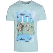 Humans Aliens S/S T-Shirt - Light Blue