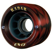 Evo 62mm Roller Derby Skate Wheels- Red/Black