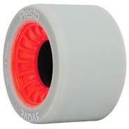 Presto 59mm/93a Roller Skate Wheels- Grey/Red