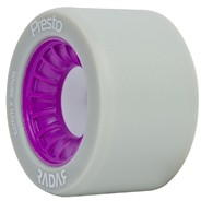 Presto 62mm/97a Roller Skate Wheels- Grey/Purple