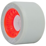 Presto 62mm/93a Roller Skate Wheels- Grey/Red