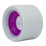 Presto Wide 62mmx44mm/97a Roller Skate Wheels- Grey/Purple